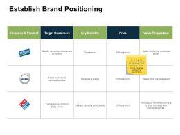 Establish Brand Positioning Target Ppt Powerpoint Presentation Show Visuals