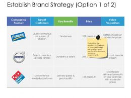 Establish Brand Strategy Target Ppt Powerpoint Presentation Show