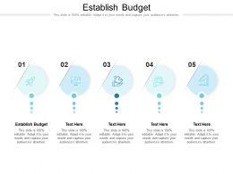 Establish Budget Ppt Powerpoint Presentation Portfolio Backgrounds Cpb