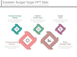 Establish Budget Target Ppt Slide