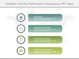 Establish Cost And Performance Transparency Ppt Ideas