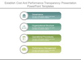 Establish Cost And Performance Transparency Presentation Powerpoint Templates