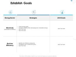 Establish Goals Electricity Ppt Powerpoint Presentation Pictures Samples