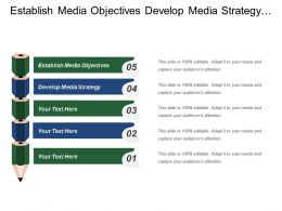 Establish Media Objectives Develop Media Strategy Business Performance
