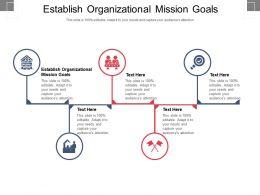 Establish Organizational Mission Goals Ppt Powerpoint Presentation Ideas Inspiration Cpb
