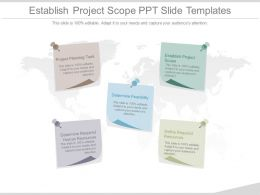 Establish Project Scope Ppt Slide Templates