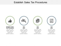 Establish Sales Tax Procedures Ppt Powerpoint Presentation Portfolio Examples Cpb