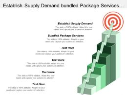 Establish Supply Demand Bundled Package Services Foundations Charities