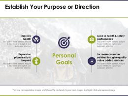 Establish Your Purpose Or Direction Ppt Professional Graphics Example
