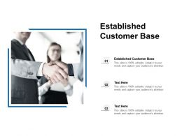 Established Customer Base Ppt Powerpoint Presentation Layouts Infographic Template Cpb