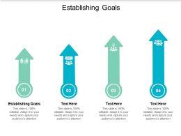 Establishing Goals Ppt Powerpoint Presentation Styles Infographics Cpb