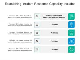Establishing Incident Response Capability Includes Ppt Powerpoint Presentation Ideas Show Cpb