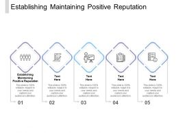 Establishing Maintaining Positive Reputation Ppt Powerpoint Presentation Show Cpb