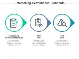 Establishing Performance Standards Ppt Powerpoint Presentation Deck Cpb