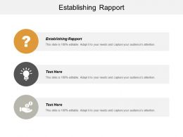 Establishing Rapport Ppt Powerpoint Presentation Professional Guide Cpb