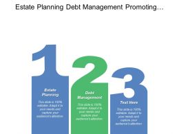 Estate Planning Debt Management Promoting Entrepreneurship Analyze Data