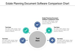 Estate Planning Document Software Comparison Chart Ppt Layouts Topics Cpb