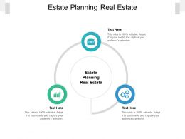 Estate Planning Real Estate Ppt Powerpoint Presentation Show Brochure Cpb