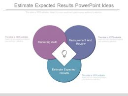 Estimate Expected Results Powerpoint Ideas