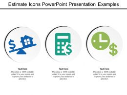 Estimate Icons Powerpoint Presentation Examples