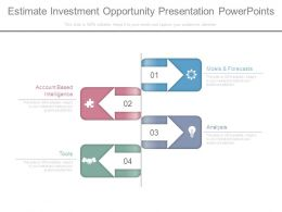 Estimate Investment Opportunity Presentation Powerpoints
