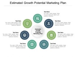 Estimated Growth Potential Marketing Plan Ppt Powerpoint Presentation Show Layouts Cpb
