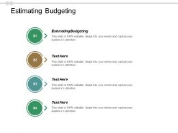 Estimating Budgeting Ppt Powerpoint Presentation File Influencers Cpb