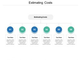 Estimating Costs Ppt Powerpoint Presentation File Smartart Cpb