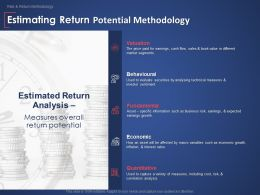 Estimating Return Potential Methodology Behavioural Ppt Powerpoint Presentation Pictures