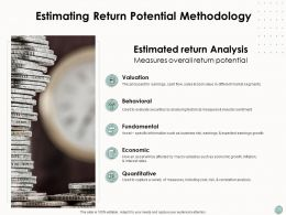 Estimating Return Potential Methodology Economic Ppt Powerpoint Presentation Icon Slide Download