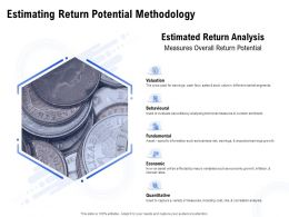 Estimating Return Potential Methodology Ppt Powerpoint Slides