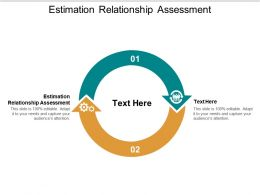 Estimation Relationship Assessment Ppt Powerpoint Presentation Layouts Mockup Cpb