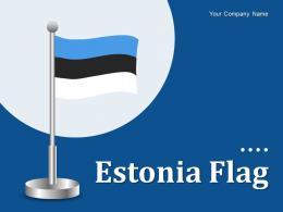 Estonia Flag Fingerprint Marker Hexagonal Historical Monument Individual