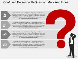 Et Confused Person With Question Mark And Icons Flat Powerpoint Design