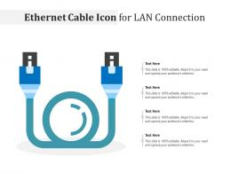 Ethernet Cable Icon For LAN Connection