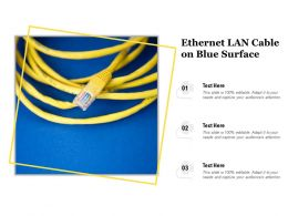 Ethernet LAN Cable On Blue Surface