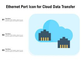 Ethernet Port Icon For Cloud Data Transfer