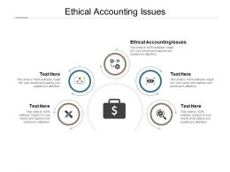 Ethical Accounting Issues Ppt Powerpoint Presentation Outline Background Cpb