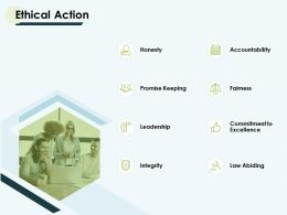 Ethical Action Leadership Ppt Powerpoint Presentation Pictures Grid