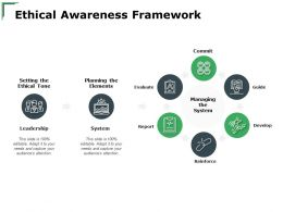 Ethical Awareness Framework System Ppt Powerpoint Presentation Layouts Icons