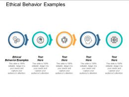 Ethical Behavior Examples Ppt Powerpoint Presentation Portfolio Influencers Cpb