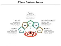 Ethical Business Issues Ppt Powerpoint Presentation Outline Portrait Cpb