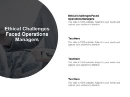 Ethical Challenges Faced Operations Managers Ppt Powerpoint Presentation File Objects Cpb