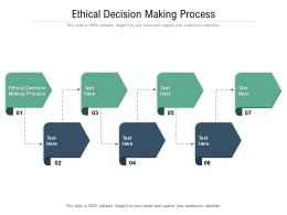 Ethical Decision Making Process Ppt Powerpoint Presentation Show Deck Cpb