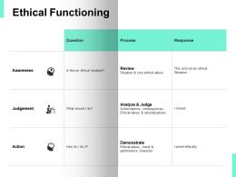 Ethical Functioning Process Ppt Powerpoint Presentation Icon Design Inspiration