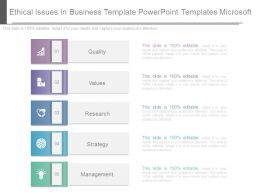 Ethical Issues In Business Template Powerpoint Templates Microsoft