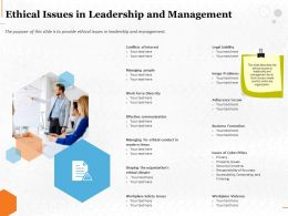 Ethical Issues In Leadership And Management Ppt Powerpoint Presentation File