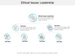 Ethical Issues Leadership Ppt Powerpoint Presentation Show Display Cpb