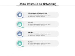Ethical Issues Social Networking Ppt Powerpoint Presentation Outline Themes Cpb