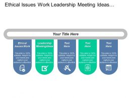Ethical Issues Work Leadership Meeting Ideas Process Innovative Cpb